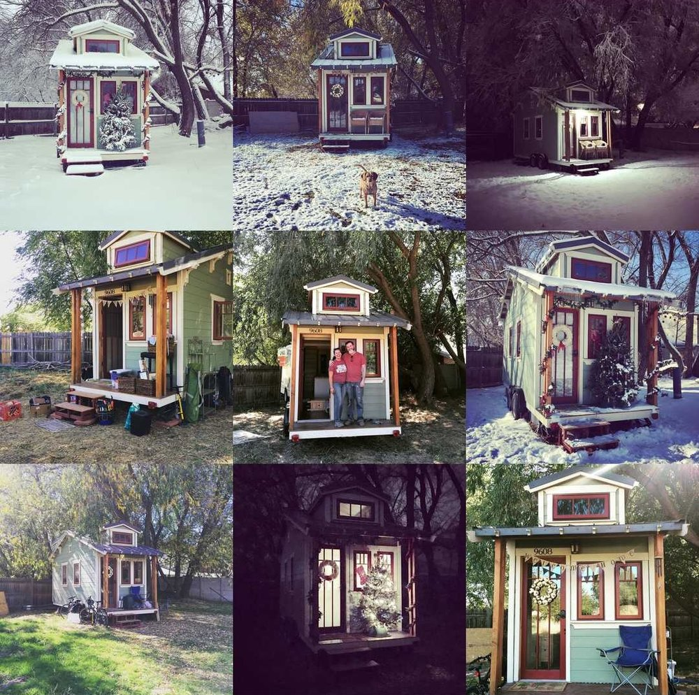 Look at the seasons and weather we have experienced in Salt Lake City at the tiny house since we moved in!