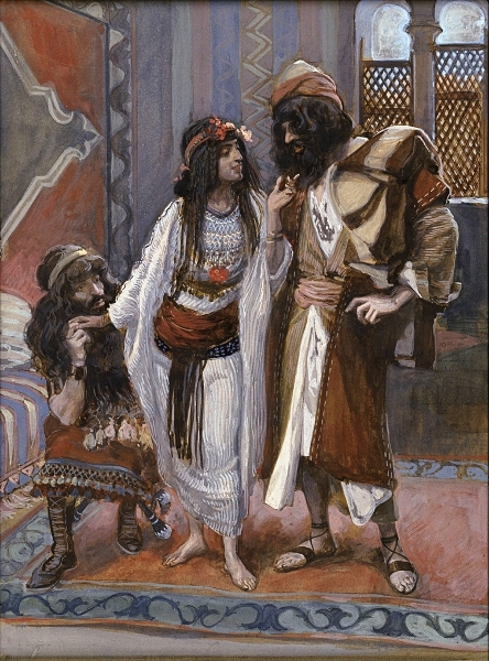 The Harlot of Jericho and the Two Spies, c. 1896-1902, by James Jacques Joseph Tissot (French, 1836-1902)  | Wikimedia Commons, Public Domain