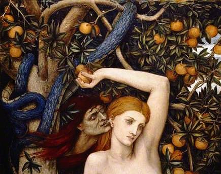 Eve Tempted, John Roddam Spencer Stanhope (1829-1908), 1877   Wikimedia Commons, Public Domain