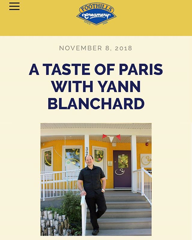 "Hey guys! If you haven't checked out our latest blog post ""A Taste of Paris with Yann Blanchard,"" we highly suggest you do! Read more on Blanchard's success and learn why he has been accepted into one of the world's most exclusive French associations, Relais Desserts! ✨Link in BIO✨  #foothillscreamery #blog #relaisdesserts #yycnow #follow #instanow #delicious #yycinfluencer"