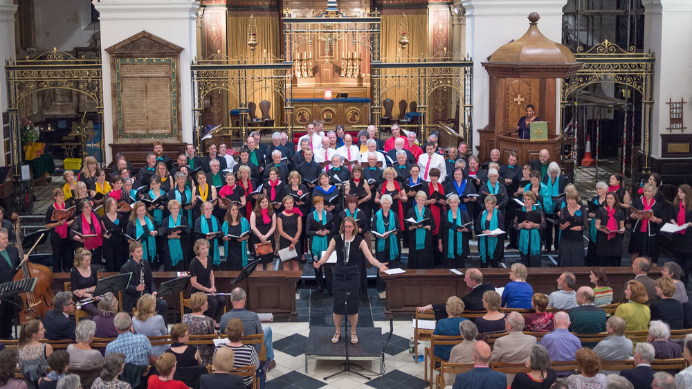 Fortyssimo – combined choirs, instrumentalists and Melanie Marshall, celebrating my fortieth birthday!