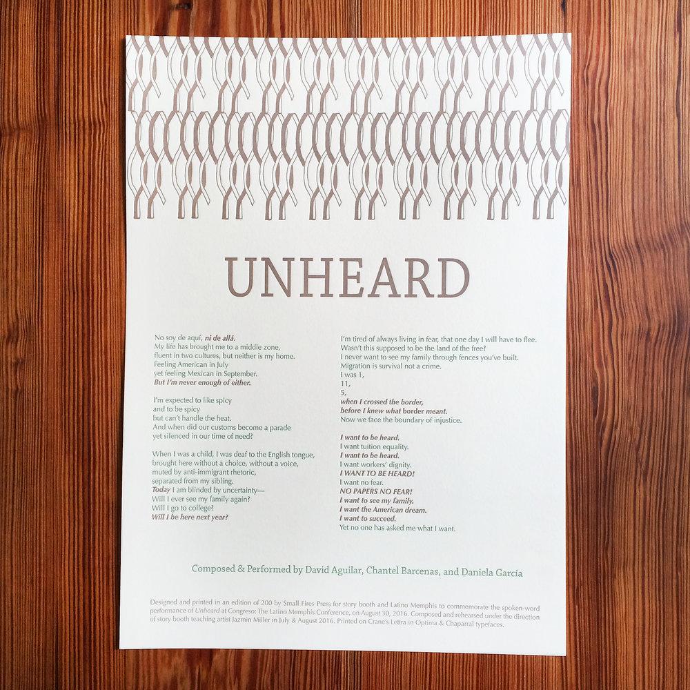 Unheard - Story Booth - Latino Memphis - Letterpress Broadside.jpg