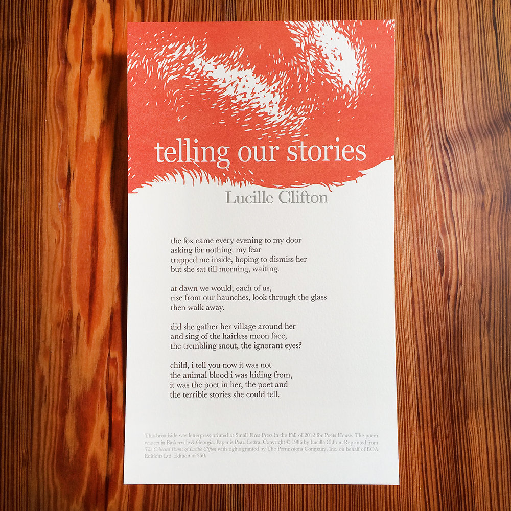 Telling Our Stories - Lucille Clifton - Letterpress Broadside.jpg
