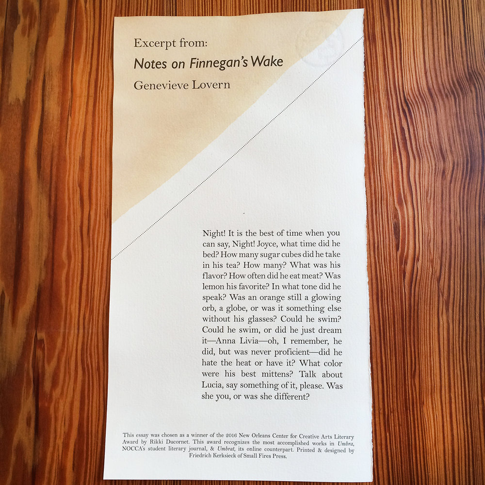 NOCCA FINNEGAN'S WAKE - Letterpress - Broadside.jpg