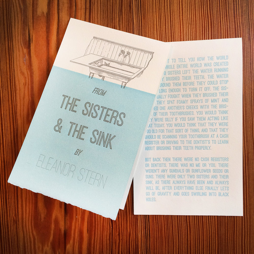 Sisters and the Sink - Letterpress Broadside.jpg