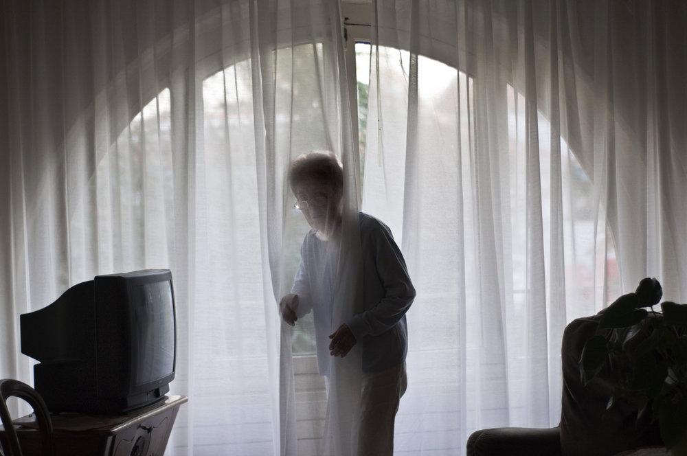 Personne souffrant de la maladie d'Alzheimer.
