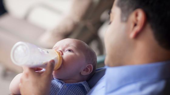 Edmonton Doula Dad Bottle Feeding