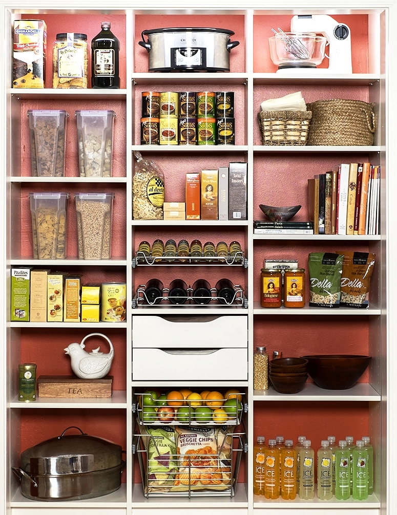 Custom Kitchen Pantry with Wine Rack