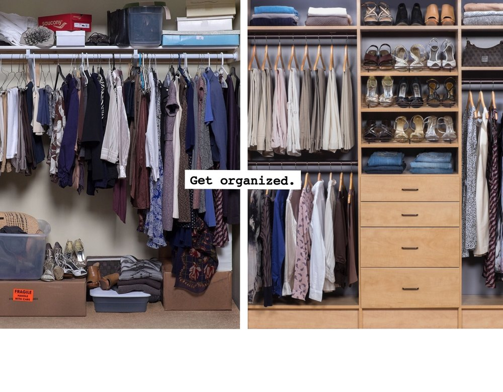 Custom Closet Shelving Before and After