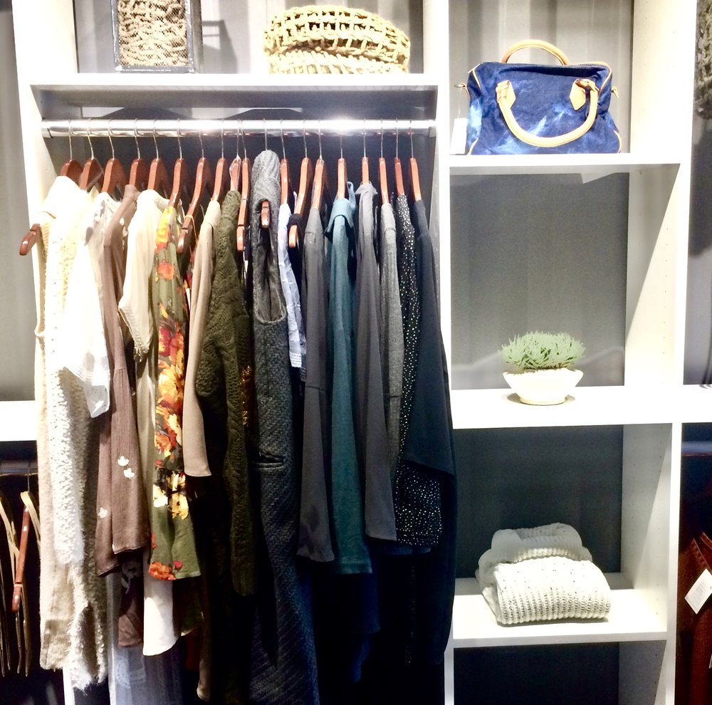 Wooden Hangers Complete Our Crisp White Closet Shelving For Tulsa Boutique  Beauu0026amp ...