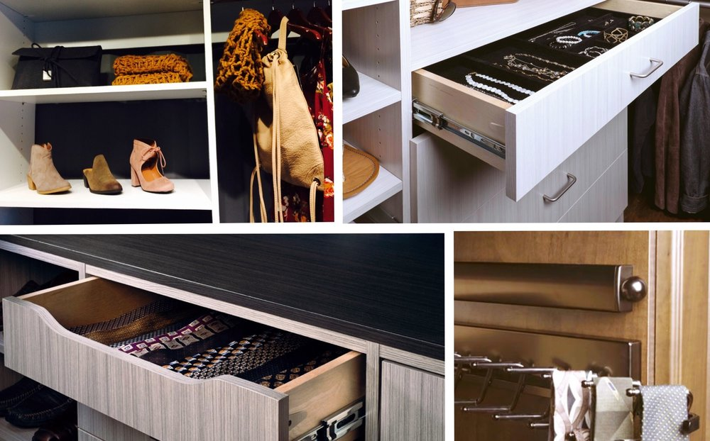 Closets of Tulsa offers efficient storage solutions for all types of small accessories.