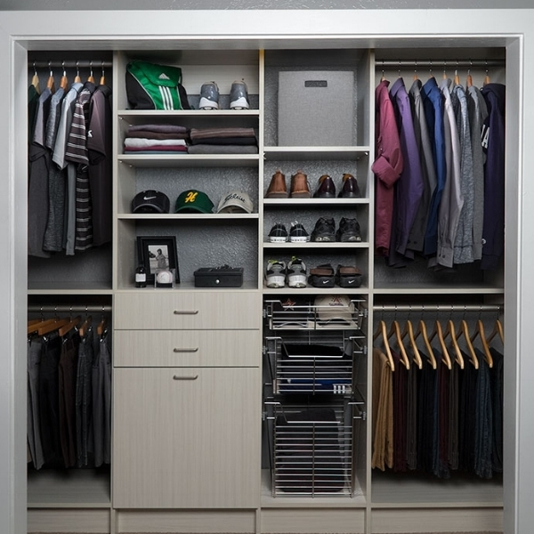 Custom Closet for Teenager with Shoe Rack and Hat Storage
