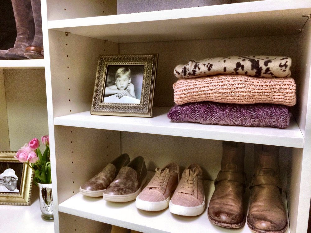Custom Closet Shoe Rack and Sweater Storage by Closets of Tulsa