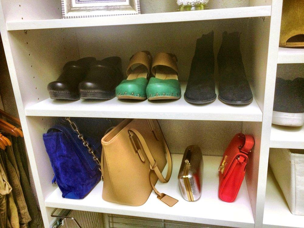 Custom Closet Shelving and Shoe Rack by Closets of Tulsa