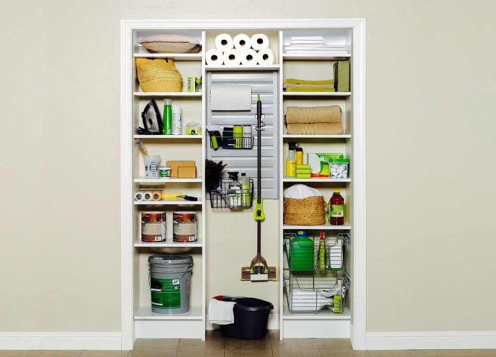 Kitchen Pantry Storage with Open Shelving by Closets of Tulsa