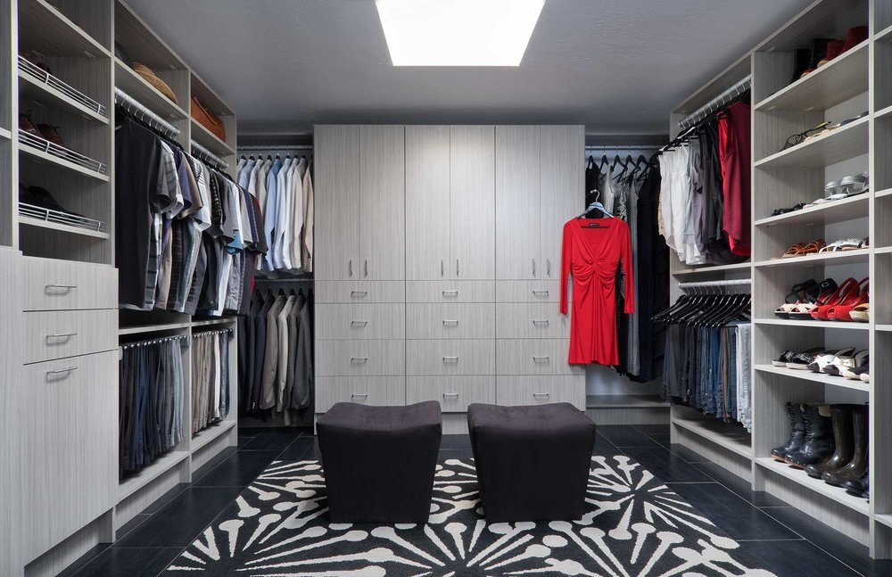 Custom Walk In Closet by Closets of Tulsa