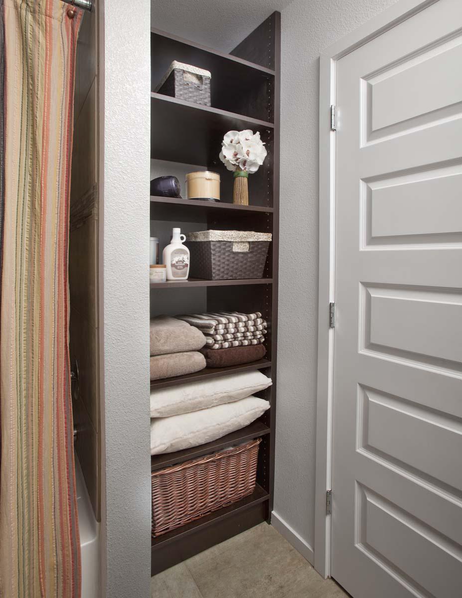 Bathroom Linen Closet by Closets of Tulsa