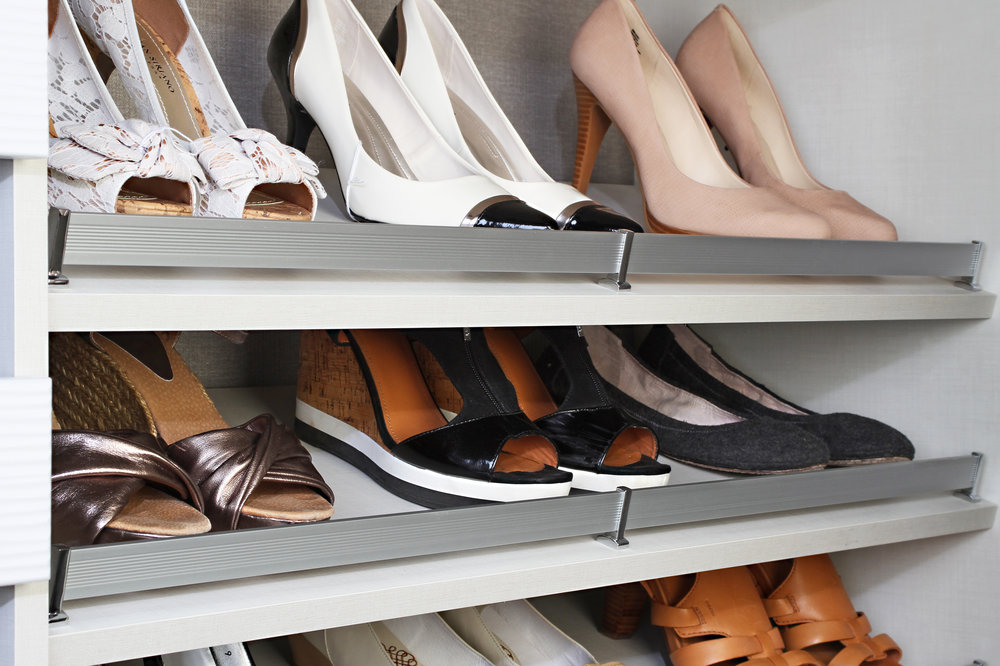 Custom Closet Shoe Rack by Closets of Tulsa