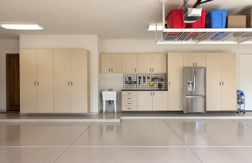 Maple Garage Cabinets by Closets of Tulsa