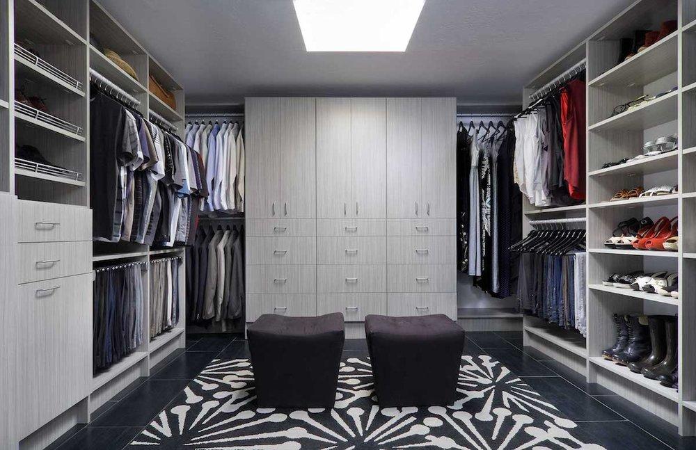 Closets of Tulsa Custom Closet Organizer Drawers Shoe Rack