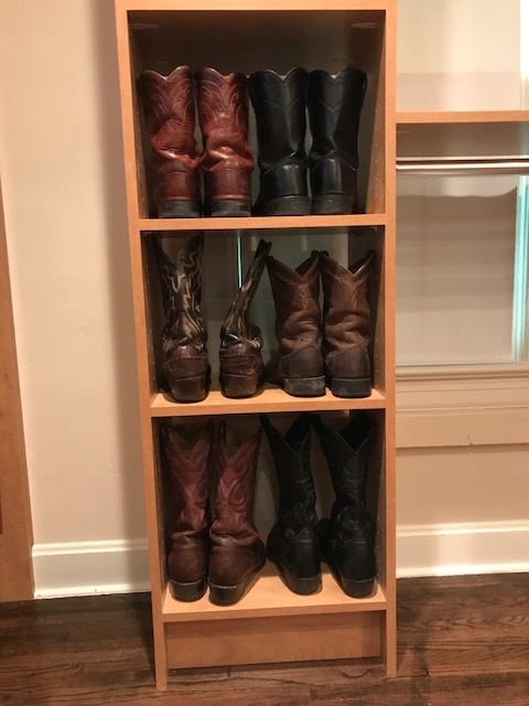 Custom Closet Conversion Boot Storage