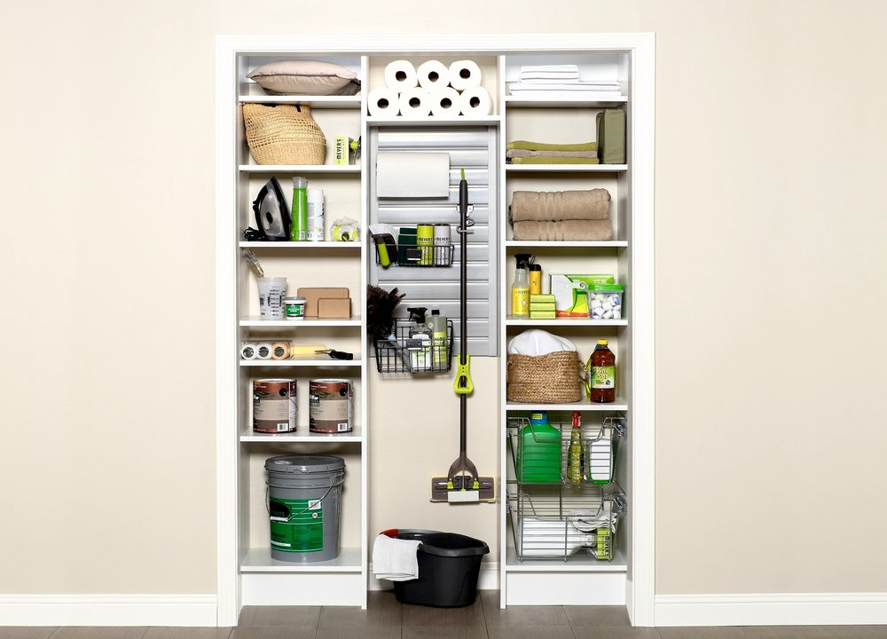 Frustrated by underutilized storage space? Consider converting a hall closet to a custom pantry or laundry closet.  Call Closets of Tulsa  today for your FREE consultation and 3-D closet design:  918.609.0214