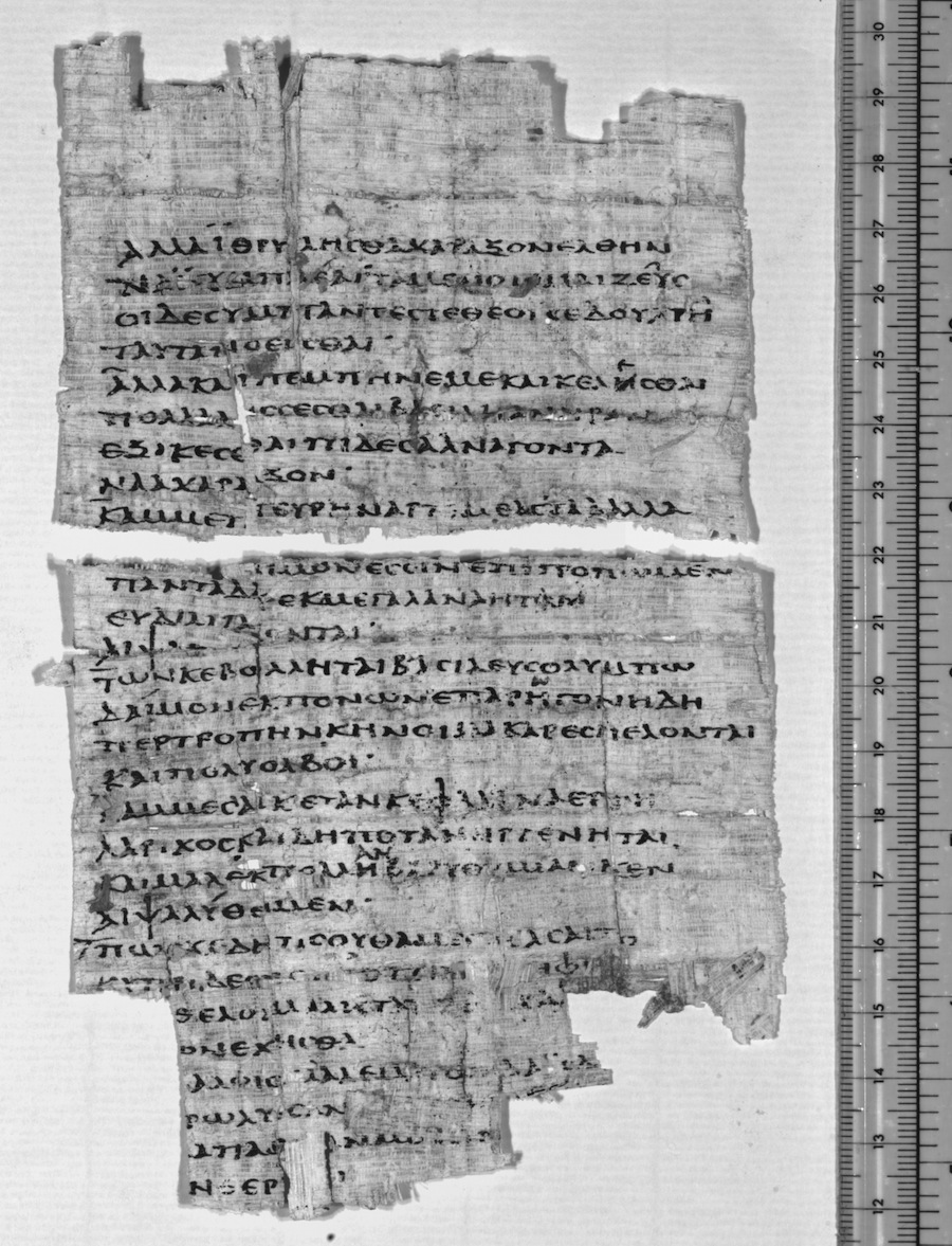 Papyrus fragment containing Sappho's poems