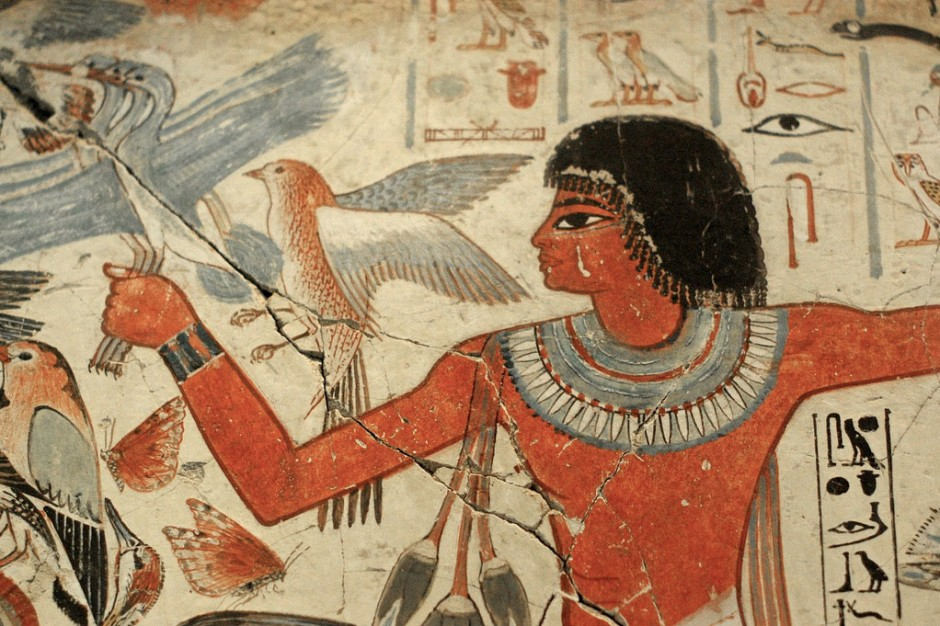 This painting is a great example of some of the makeup Egyptians used