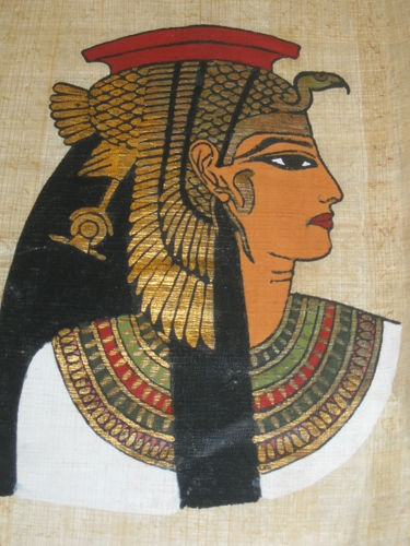 Egyptian Papyrus-wearing makeup