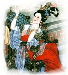 Yang Guifei's lavish outfit and jewelle
