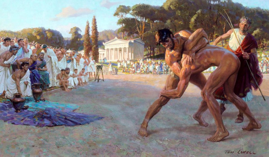 Artist-re-creation-of-ancient-wrestling-1024x599