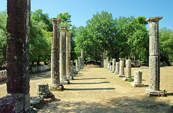 The palaestra of Olympia-the place where athletes trained. (Wikipedia)