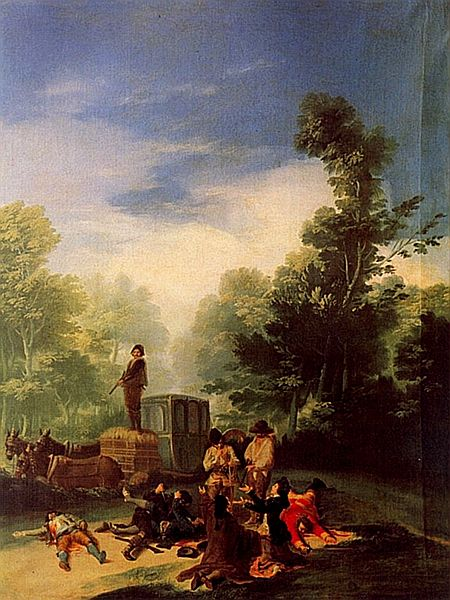Highwaymen Attacking a Roman Carriage