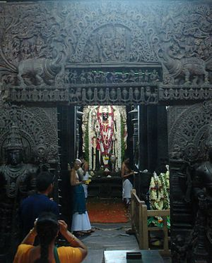 Inner chamber of Chennakesava Temple at Belur