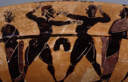 Boxing sport. (Photograph by Maria Daniels, courtesy of the University Museums, University of Mississippi)