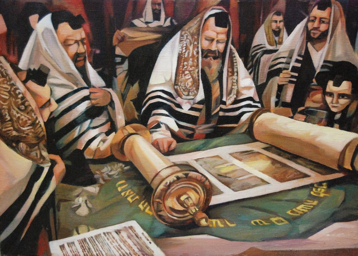 Jewish scholars study the Torah
