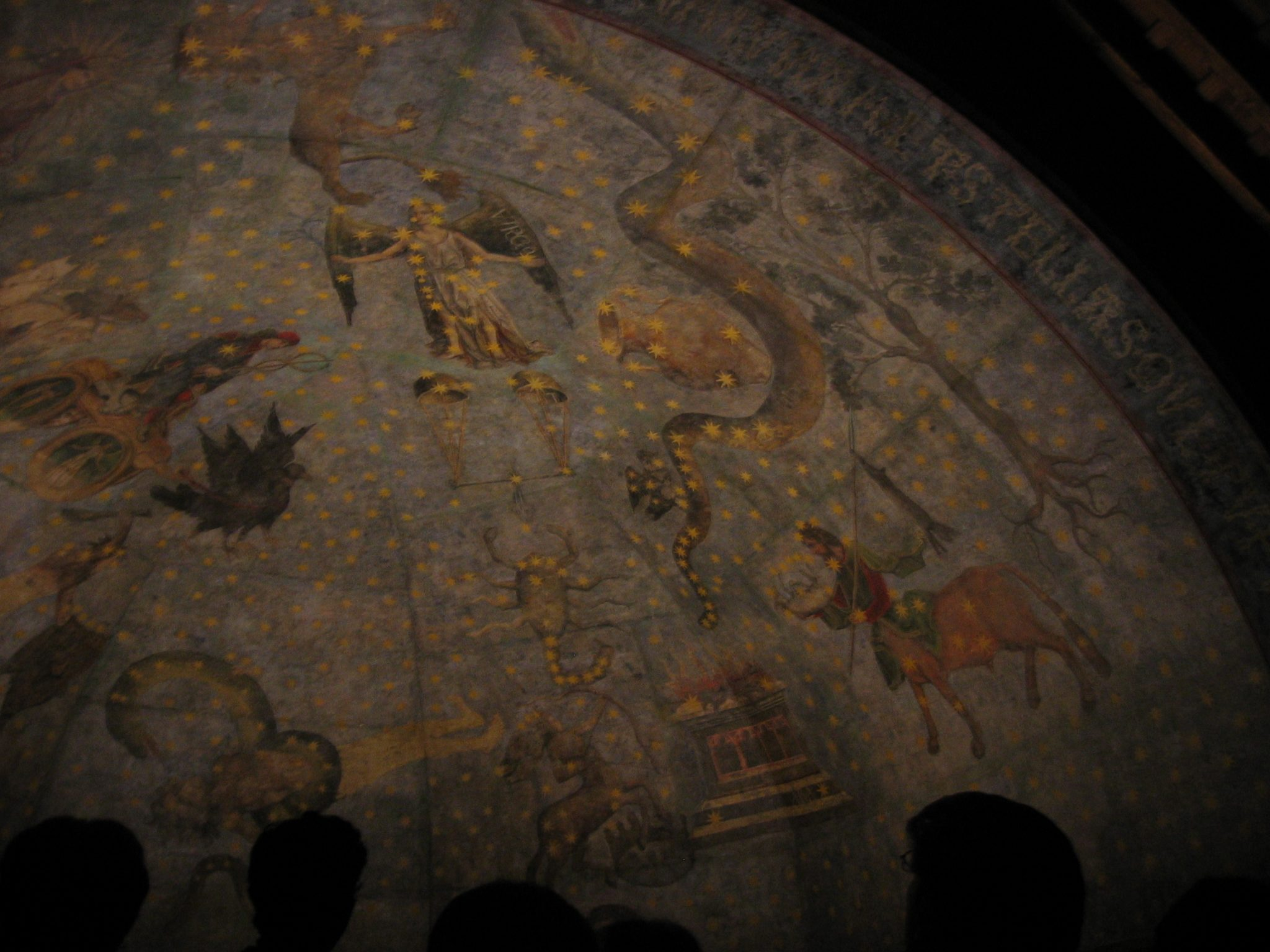 The sky at night, Sala Calderón de la Barca - ceiling painting by Fernando Gallego (ca. 1480) including the signs of the Zodiac, a number of constellations and the four winds By Pat Reynolds CC BY-NC 2.0