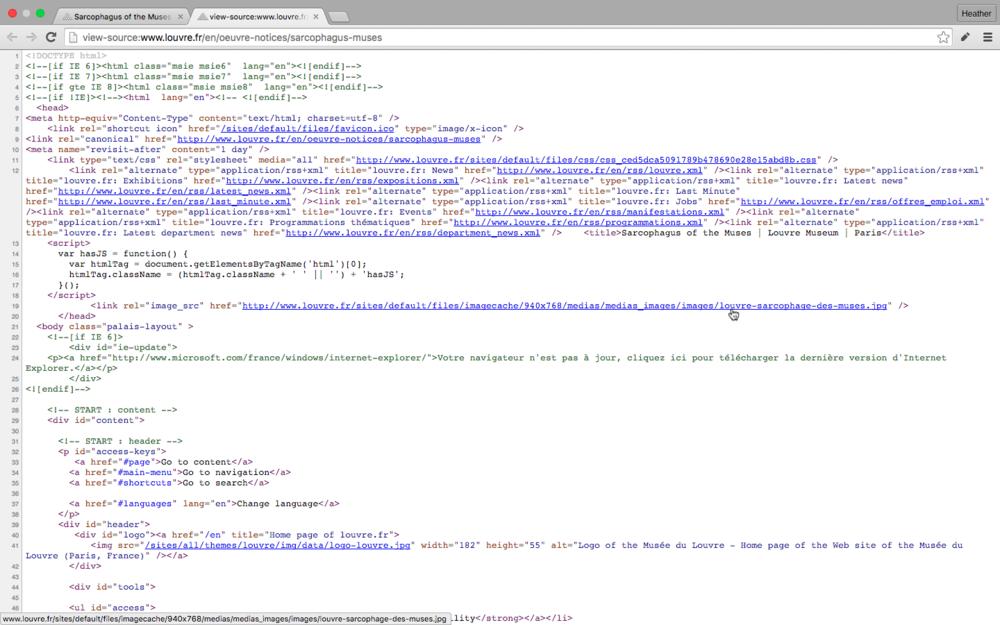 Chrome Image URL