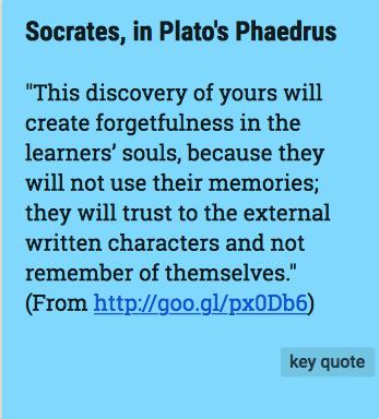 Socrates from Plato's Phaedrus
