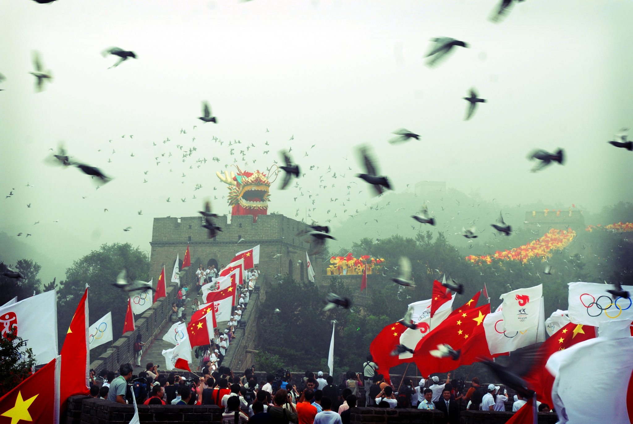"""""""Olympic torch relay, Great Wall of China"""" @ Edwin Lee, 2008, CC BY-ND 2.0"""
