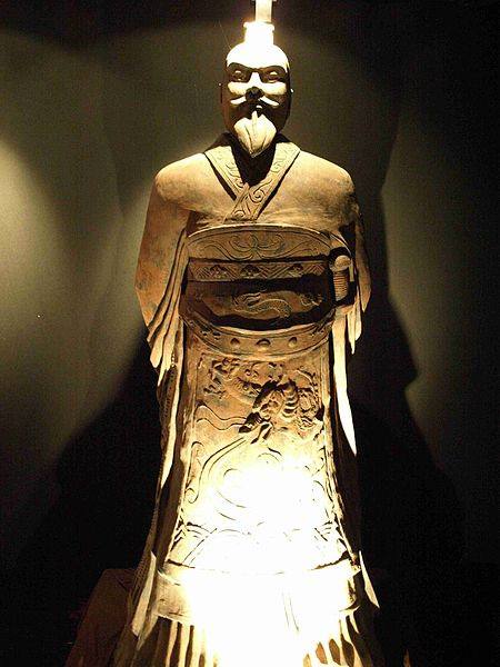 """""""Statue of emperor Qin, China"""" @ Prosopee, 2009, CC-BY-SA-3.0"""