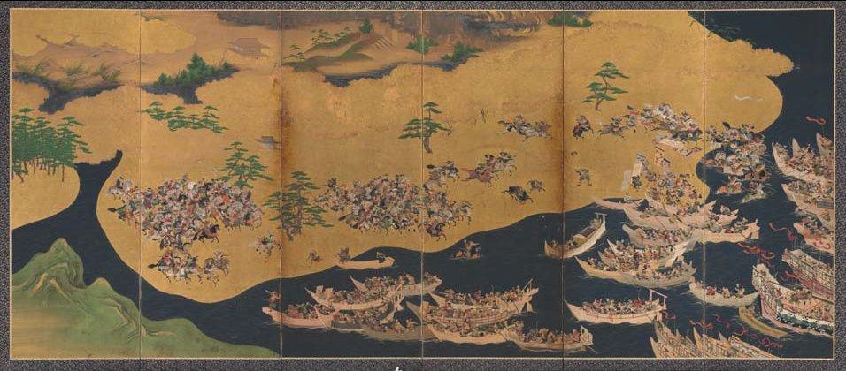 Battles of Yashima and Ichi-no-tani Artist unknown