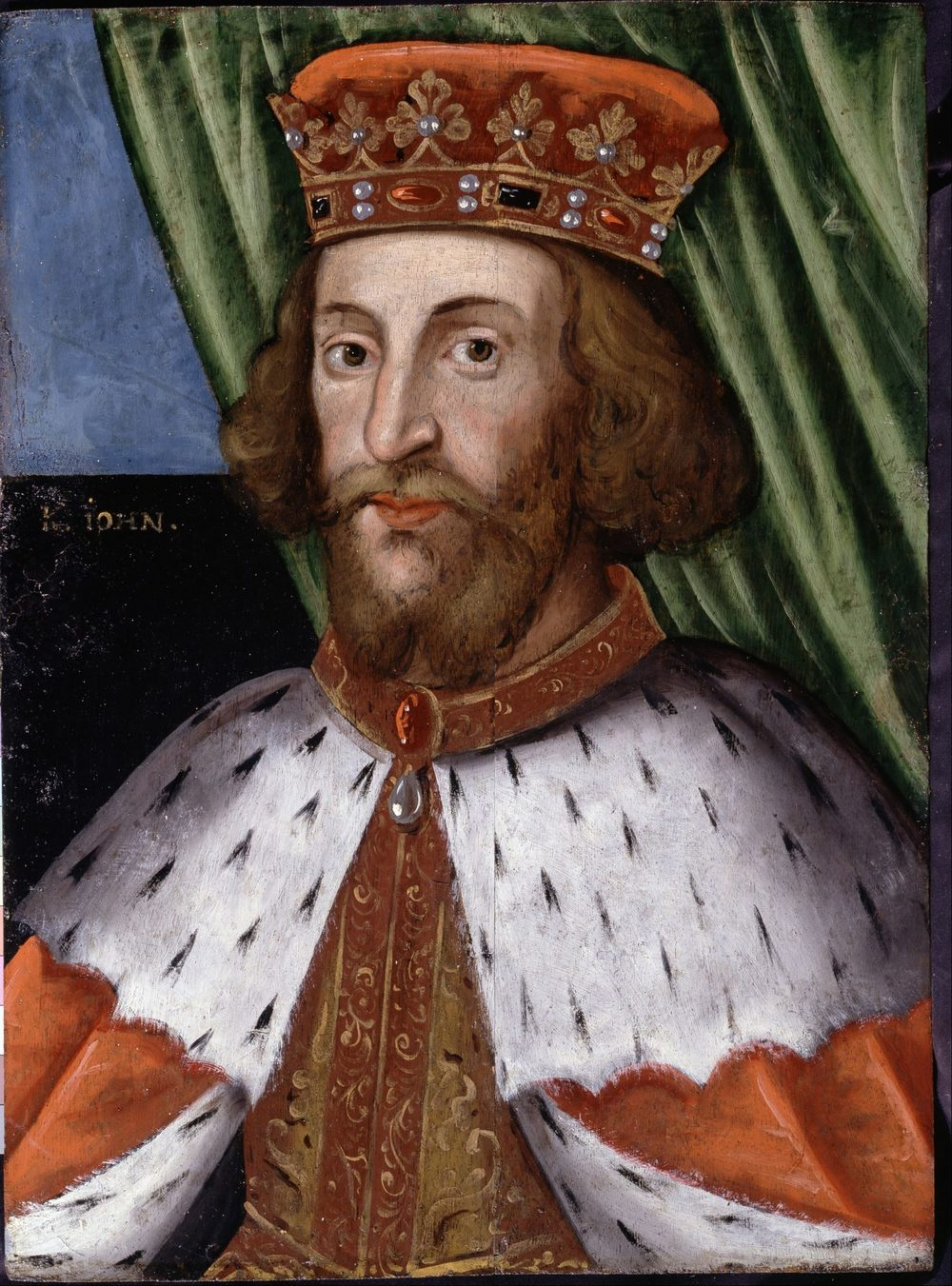 1626 painting of King John held at Dulwich Picture Gallery. Artist unknown. [Public Domain]