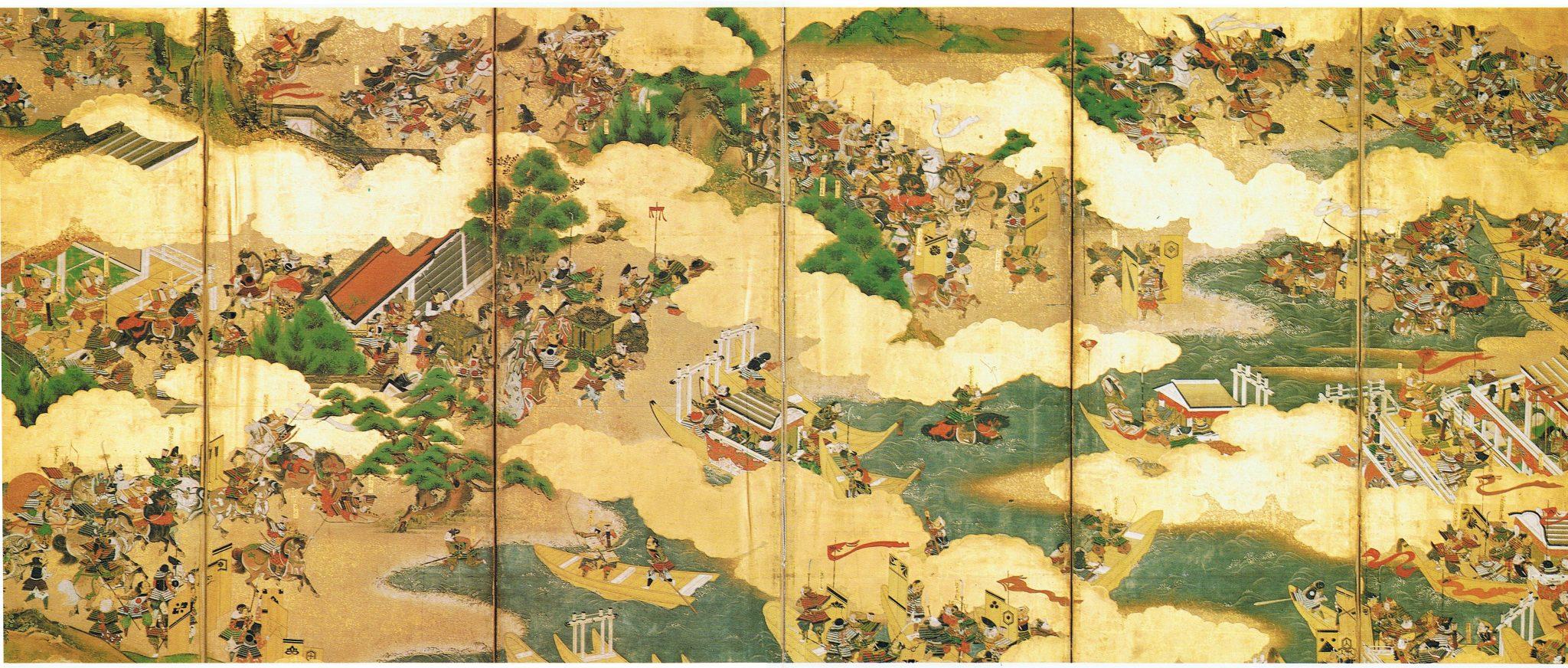 Figure Screen depicting the Genpei War Artist: Unknown