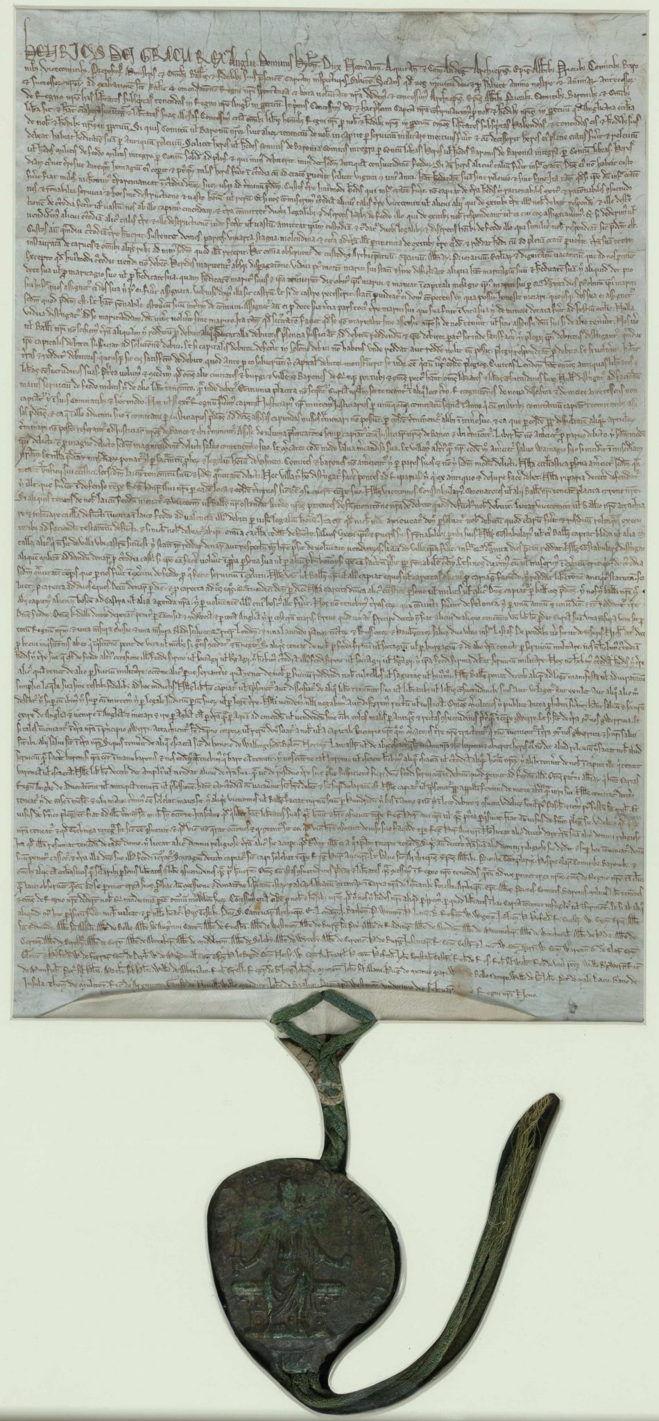 1225 version of Magna Carta with King Henry III's seal kept in the British Library Photograph by British Library. [Public Domain]