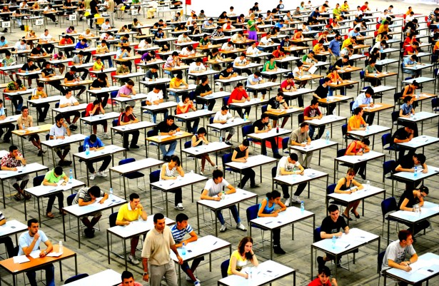 GET SICK WHEN LOOKING AT THE AMOUNT OF PEOPLE TAKING EXAMS