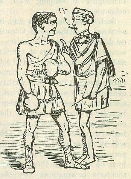 Comic drawing of a tunic by John Leech