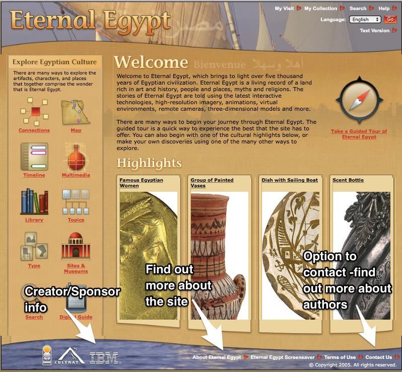 Eternal Egypt Website