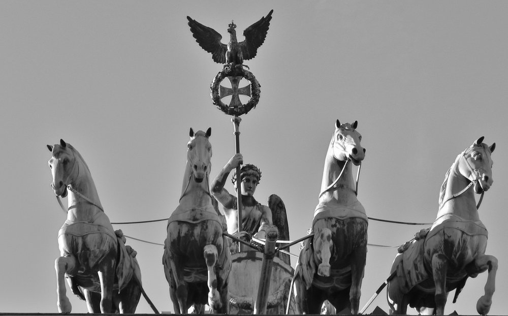 Quadriga atop the Brandenburg Gate. By young shanahan via Flickr