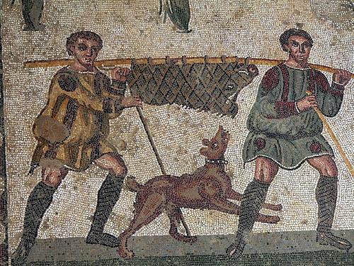 Villa Romana del Casale- Small Game Hunt Mosaic    © José Luiz Bernardes Ribeiro /    CC BY-SA 4.0